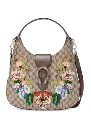 Gucci Dionysus embroidered medium GG Supreme hobo - Nude & Neutrals