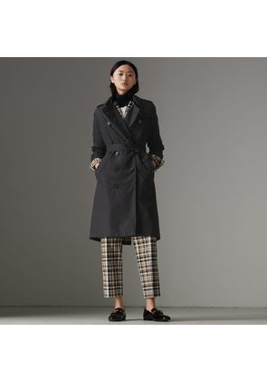 Burberry The Long Kensington Heritage Trench Coat, Size: 04, Blue
