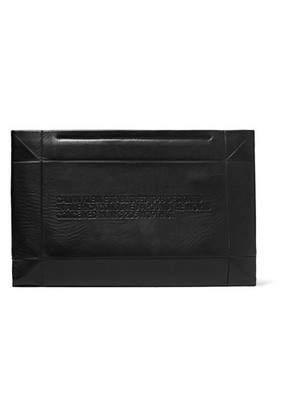 CALVIN KLEIN 205W39NYC - Embossed Leather Clutch - Black