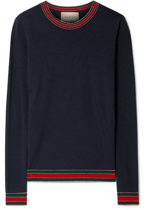 Gucci - Striped Wool Sweater - Navy