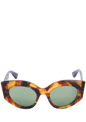 TORTOISESHELL CAT-EYE WEB SUNGLASSES