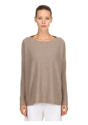CASHMERE SWEATER W/ RIB KNIT SELEEVES