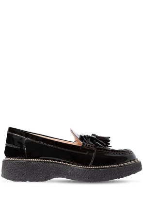 35MM TASSELED PATENT LEATHER LOAFERS