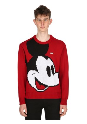 MICKEY MOUSE WOOL BLEND KNIT SWEATER