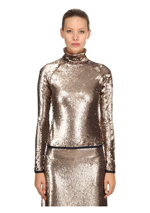 SEQUINED LONG SLEEVE TOP