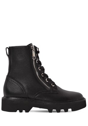30MM DIAHNE TUMBLED LEATHER COMBAT BOOTS
