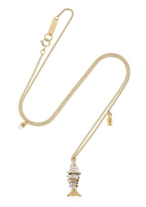 CHAIN NECKLACE WITH FISH CHARM