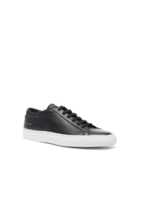Common Projects Original Leather Achilles Low in Black