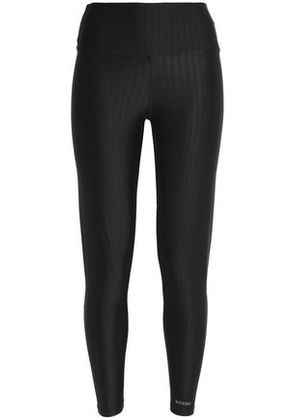 Bodyism Woman Ribbed Stretch Leggings Black Size S