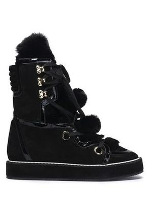 Nicholas Kirkwood Woman Fur And Suede Ankle Boots Black Size 38