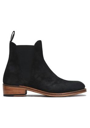 Grenson Woman Suede Ankle Boots Black Size 8