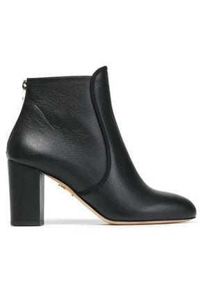 Charlotte Olympia Woman Textured-leather Ankle Boots Black Size 40