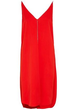 T By Alexander Wang Woman Open-back Chain-embellished Crepe Dress Red Size 2