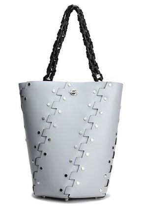 Proenza Schouler Woman Studded Leather Bucket Bag Light Gray Size -