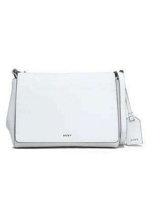 Dkny Woman Leather Shoulder Bag White Size -