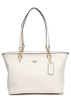Coach Woman Leather Tote Ivory Size -