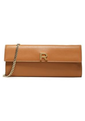 Rochas Woman Leather Shouolder Bag Camel Size -