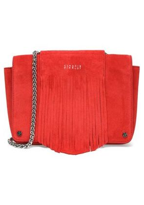 Claudie Pierlot Woman Fringed Suede Shoulder Bag Red Size -