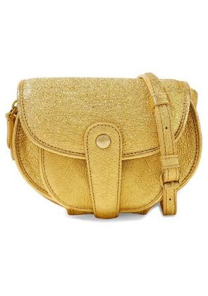 Jérôme Dreyfuss Woman Metallic Coated Textured-leather Shoulder Bag Gold Size -