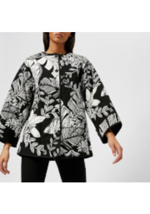 See By Chloe Women's Palm Print Short Quilted Jacket - Black/White - FR 36/UK 8 - Black