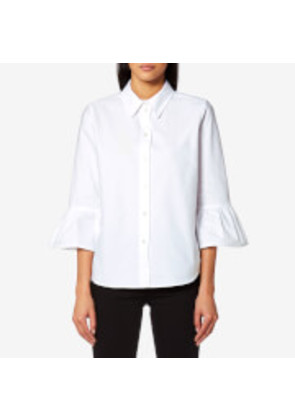 Marc Jacobs Women's Button Down Shirt with Ruffle Sleeves - White - US 4/UK 8 - White