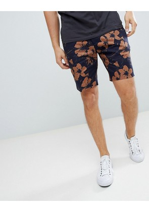 New Look Shorts With Floral Print In Black - Black pattern