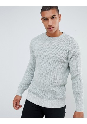 New Look textured knit jumper in grey - Sterling silver