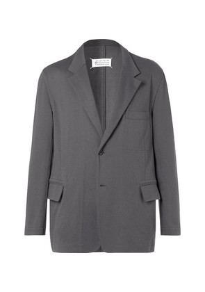 Grey Oversized Reversible Cotton-jersey Blazer