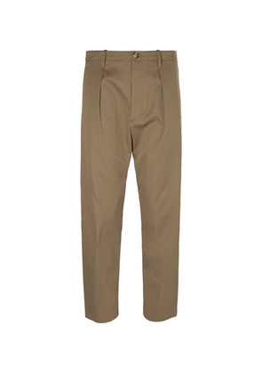 Valentino - Cropped Cotton Trousers - Beige