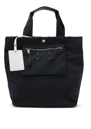 Reversible cotton-canvas tote