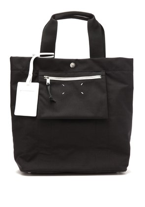 Stereotype reversible black canvas tote
