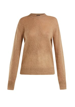 Brushed mohair-blend crew-neck sweater