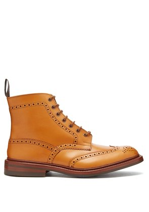Stow leather brogue boots