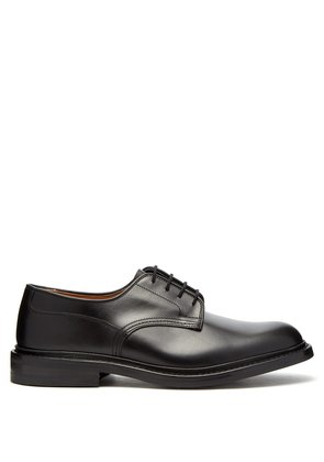 Woodstock derby leather shoes