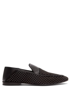 Cole studded suede loafers