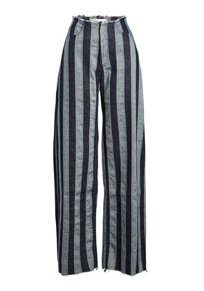 Marques' Almeida Striped Boyfriend Pants in Cotton and Linen