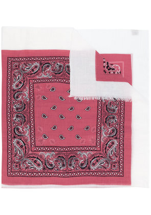 Destin embroidered scarf - Pink