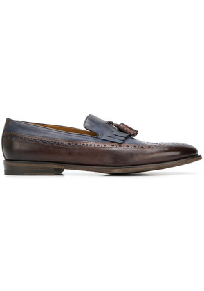Doucal's tassel-embellished loafers - Brown