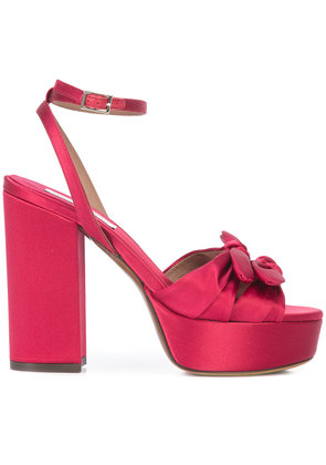 Tabitha Simmons bow detail sandals - Red