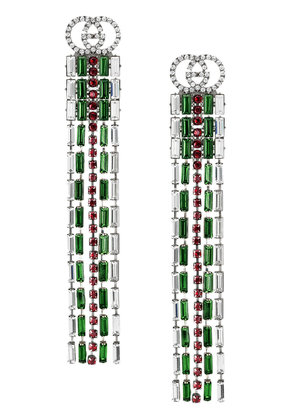 Gucci Crystal Web drop earrings - Metallic
