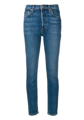 Re/Done low-rise skinny jeans - Blue