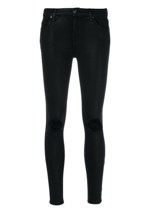 7 For All Mankind distressed skinny jeans - Black