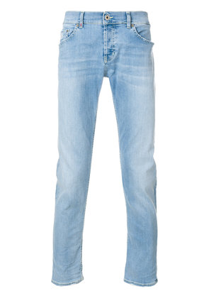 Dondup frayed faded slim-fit jeans - Blue