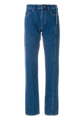 Y / Project reconstructed straight leg jeans - Blue