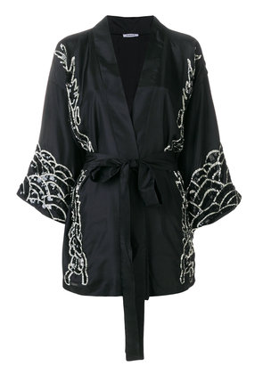 P.A.R.O.S.H. embroidered wrap jacket - Black
