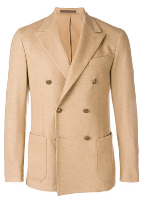 Eleventy double breasted blazer - Brown