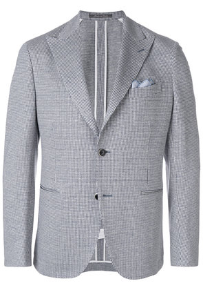 Cantarelli houndstooth print suit jacket - White