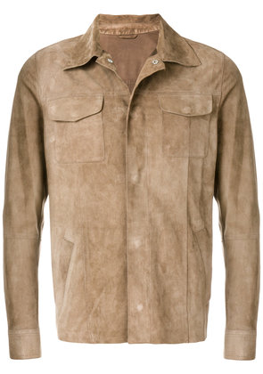 Eleventy fitted buttoned jacket - Brown