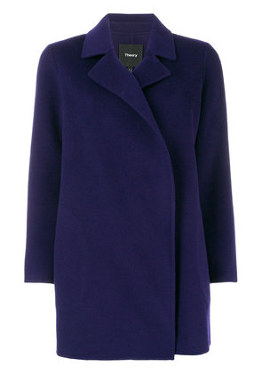 Theory double-breasted fitted coat - Pink & Purple