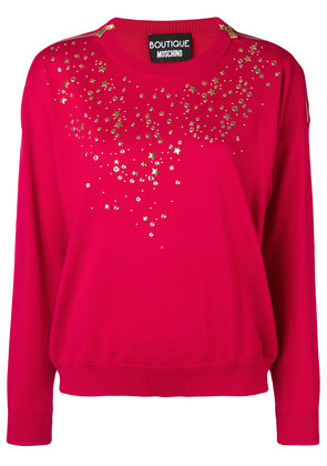 Boutique Moschino long-sleeve fitted sweater - Red